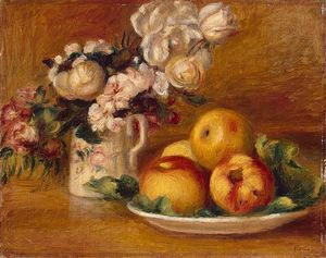Pierre-Auguste Renoir - Apples and Flowers