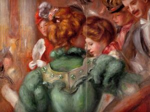 Pierre-Auguste Renoir - A Box in the Theater des Varietes - (Famous paintings reproduction)