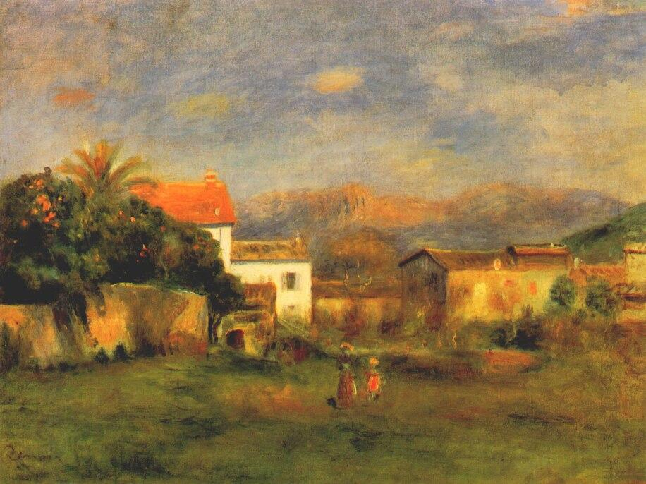 Order Museum Quality Reproductions : View of cagnes, 1900 by Pierre-Auguste Renoir (1841-1919, France) | WahooArt.com