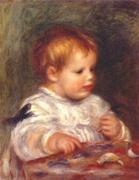 Jacques fray as a baby, 1904 by Pierre-Auguste Renoir (1841-1919, France) | Reproductions Pierre-Auguste Renoir | WahooArt.com