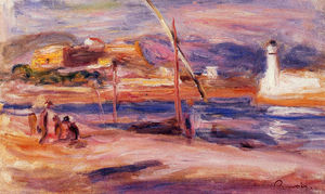 Pierre-Auguste Renoir - Lighthouse and Fort Carre Antibes