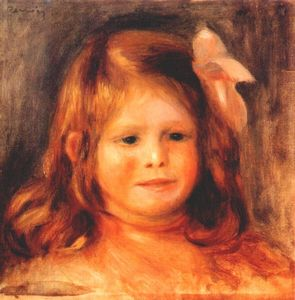 Pierre-Auguste Renoir - Girl with a pink ribbon