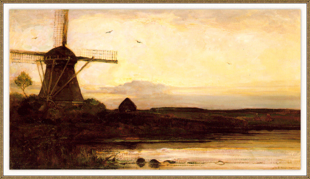 Mill in the evening, 1905 by Piet Mondrian (1872-1944, Netherlands) | Art Reproductions Piet Mondrian | WahooArt.com
