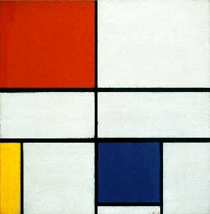 Piet Mondrian - Composition C (No.III) with Red, Yellow and Blue
