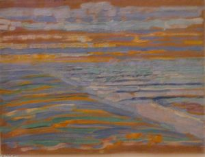 Piet Mondrian - View from the Dunes with Beach and Piers
