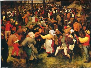 Pieter Bruegel The Elder - The Wedding Dance in the open air