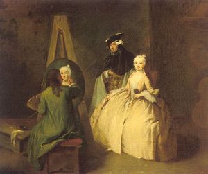 Pietro Longhi - The Painter in his Studio