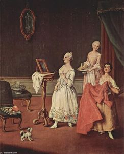 Pietro Longhi - Lady at her Toilette