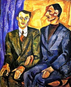 Pyotr Konchalovsky - Portrait of P. Denike (Yuriev)and A. Pokrovsky