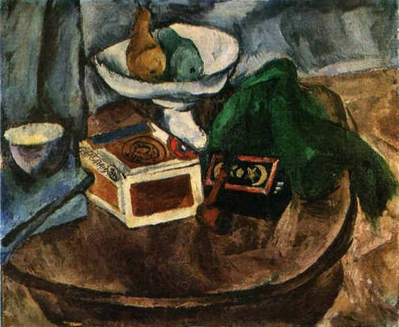 Still Life with a pipe, 1919 by Pyotr Konchalovsky (1876-1956, Russia) | Art Reproduction | WahooArt.com
