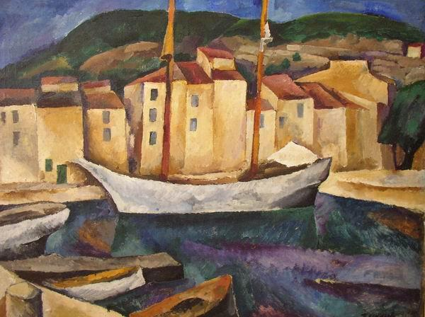 Cassis. Boats., Oil On Canvas by Pyotr Konchalovsky (1876-1956, Russia)