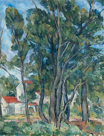 Maples in Abramtsevo, 1920 by Pyotr Konchalovsky (1876-1956, Russia)