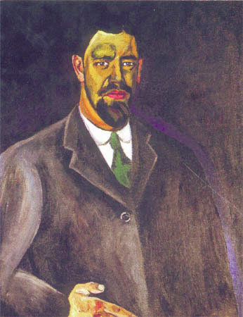Self-portrait, 1910 by Pyotr Konchalovsky (1876-1956, Russia)