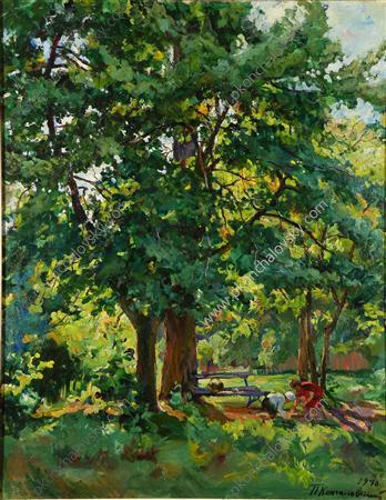 In the park, 1940 by Pyotr Konchalovsky (1876-1956, Russia)