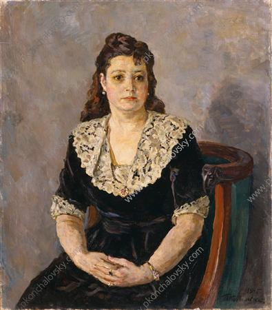 Portrait of the Artist V. G. Dulova, 1945 by Pyotr Konchalovsky (1876-1956, Russia) | Famous Paintings Reproductions | WahooArt.com