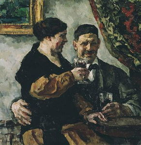Pyotr Konchalovsky - Self-portrait with wife