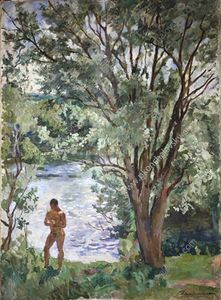 Pyotr Konchalovsky - Volodya by the river
