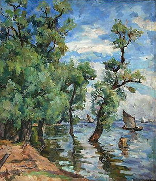 Willows on the Volkhov, 1926 by Pyotr Konchalovsky (1876-1956, Russia)