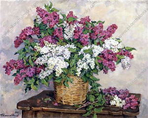 Pyotr Konchalovsky - Still Life. White and red lilac.