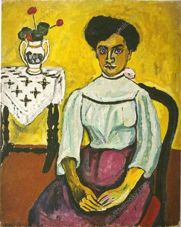 Spanish woman, 1910 by Pyotr Konchalovsky (1876-1956, Russia)