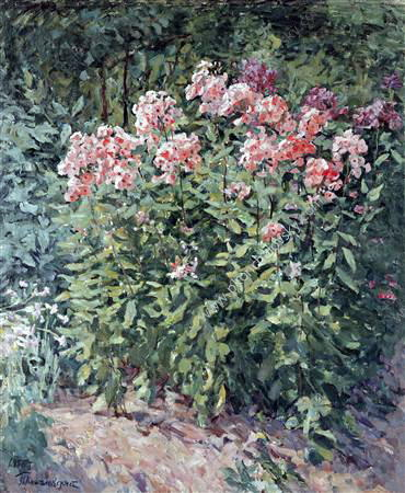 Phlox on track, 1955 by Pyotr Konchalovsky (1876-1956, Russia) | Museum Quality Reproductions | WahooArt.com