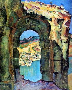 Pyotr Konchalovsky - From the ruins of the Mtsyri