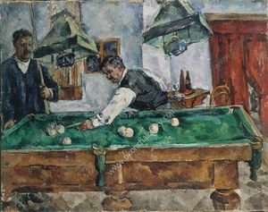 Pyotr Konchalovsky - The game of billiards