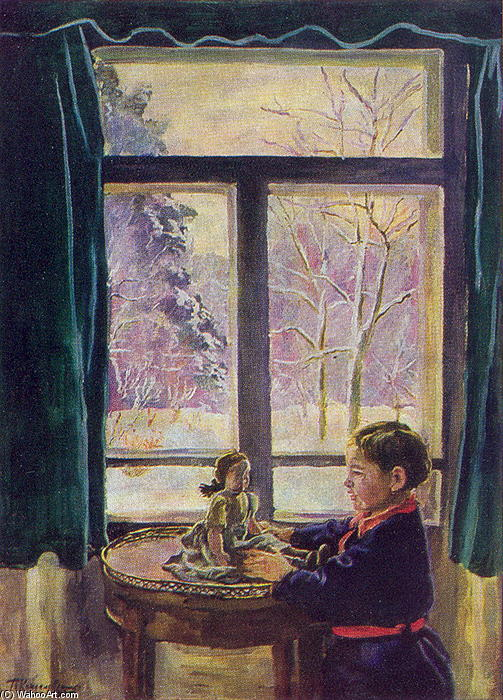 Katya by the window, 1935 by Pyotr Konchalovsky (1876-1956, Russia)