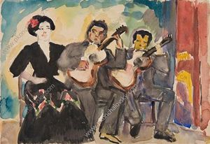 Pyotr Konchalovsky - Two guitarists and singer