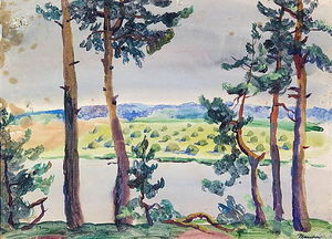 Pyotr Konchalovsky - Fir trees by the river
