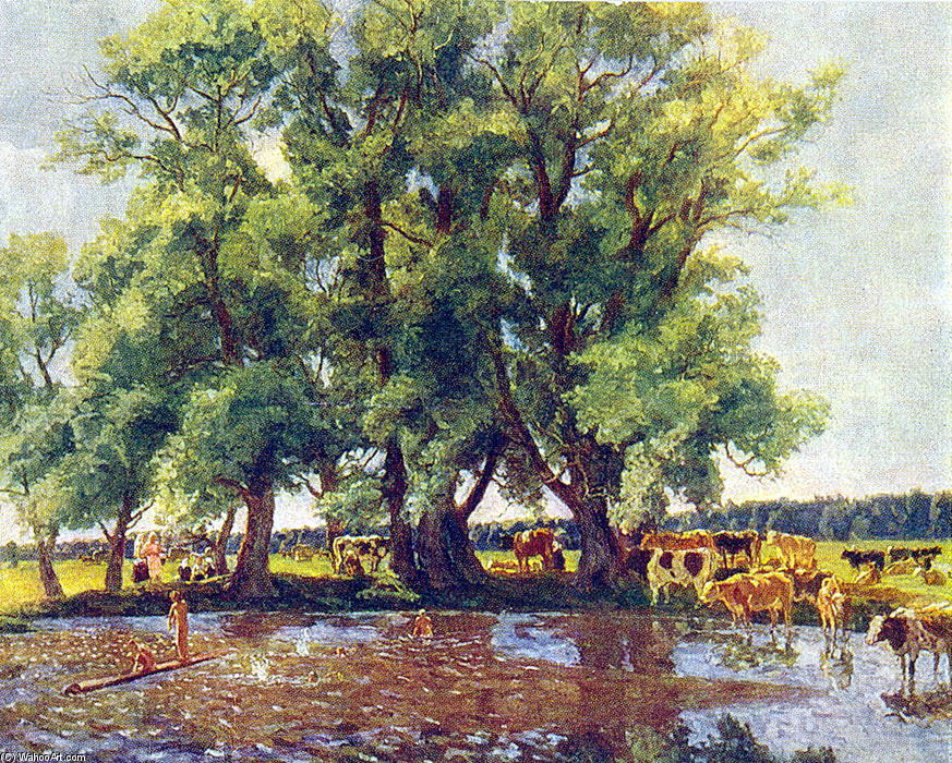 At midday, 1947 by Pyotr Konchalovsky (1876-1956, Russia)