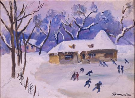 Little House on the rink, 1931 by Pyotr Konchalovsky (1876-1956, Russia) | Art Reproduction | WahooArt.com