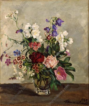 Still Life. The Dutch bouquet., 1935 by Pyotr Konchalovsky (1876-1956, Russia)