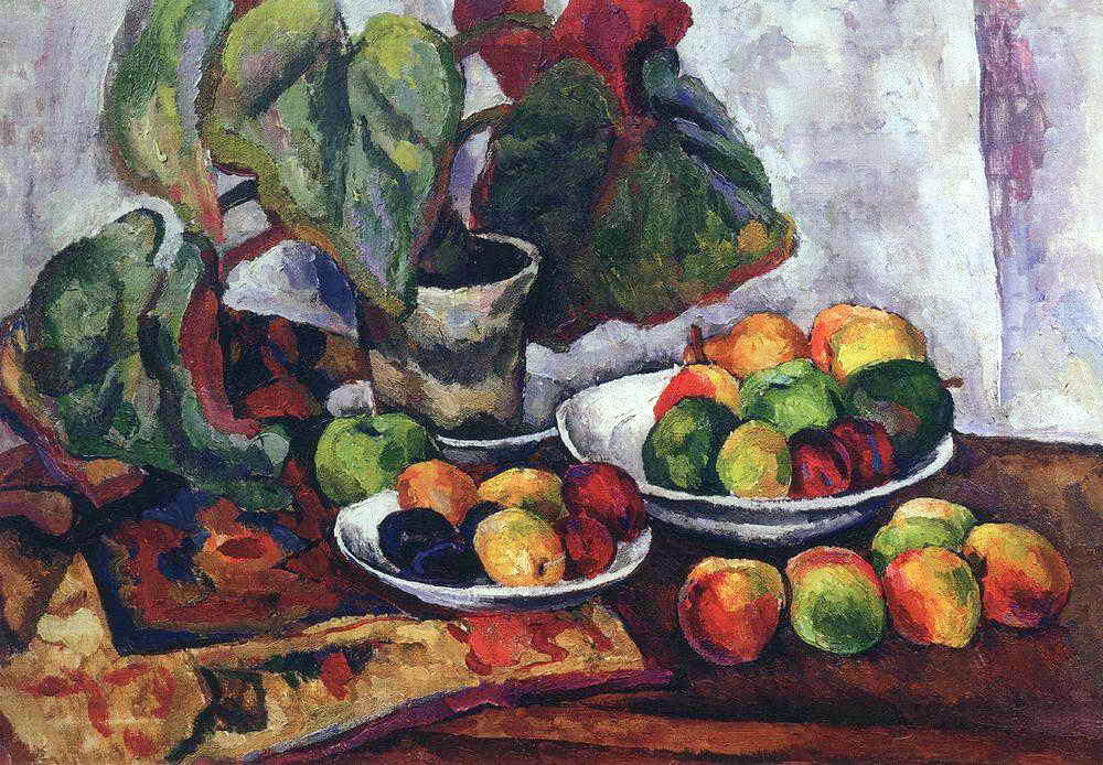 Still Life with Begonia, 1916 by Pyotr Konchalovsky (1876-1956, Russia)