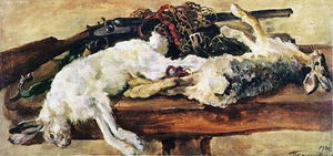 Pyotr Konchalovsky - Still Life. Two rabbits.