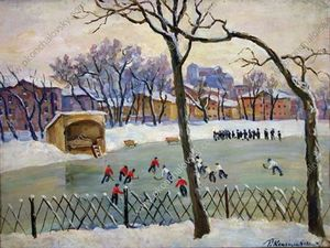 Buy Framed Print At the rink, 1945 by Pyotr Konchalovsky (1876-1956, Russia) | WahooArt.com | Order Framed Giclee At the rink, 1945 by Pyotr Konchalovsky (1876-1956, Russia) | WahooArt.com