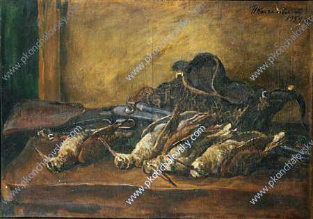 Still Life. Woodcock and gun., 1934 by Pyotr Konchalovsky (1876-1956, Russia)