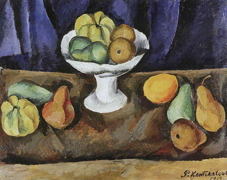 Fruit-piece, 1912 by Pyotr Konchalovsky (1876-1956, Russia) | Museum Quality Reproductions | WahooArt.com