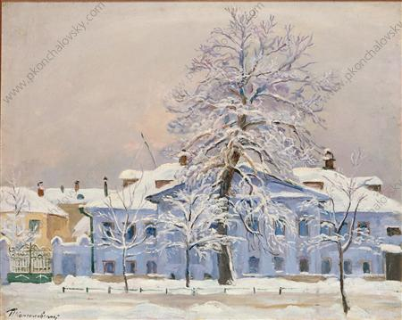 The tree in frost, 1933 by Pyotr Konchalovsky (1876-1956, Russia)