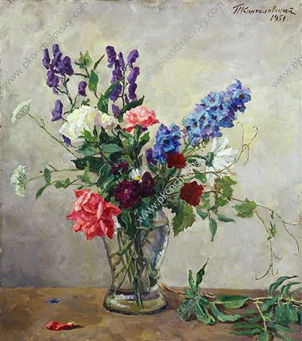Still Life. A small bouquet., 1951 by Pyotr Konchalovsky (1876-1956, Russia)