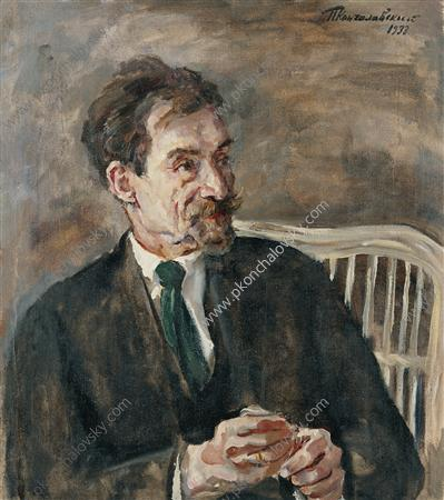 Portrait of an art critic V. A. Nikolsky, 1933 by Pyotr Konchalovsky (1876-1956, Russia)