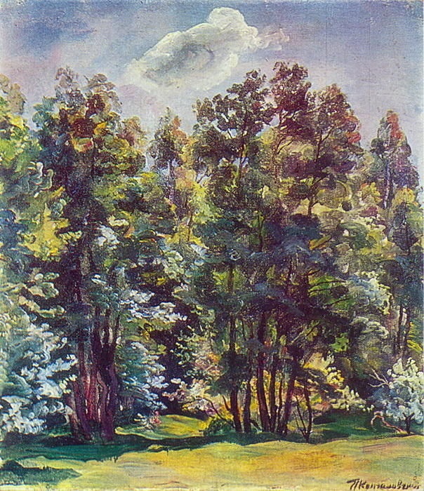 Alder against the sun, 1932 by Pyotr Konchalovsky (1876-1956, Russia)