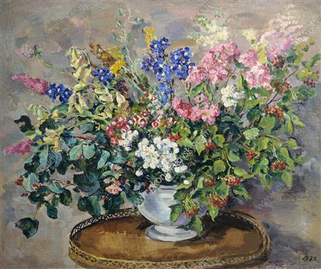 Bouquet of flowers, 1932 by Pyotr Konchalovsky (1876-1956, Russia) | Museum Quality Reproductions | WahooArt.com