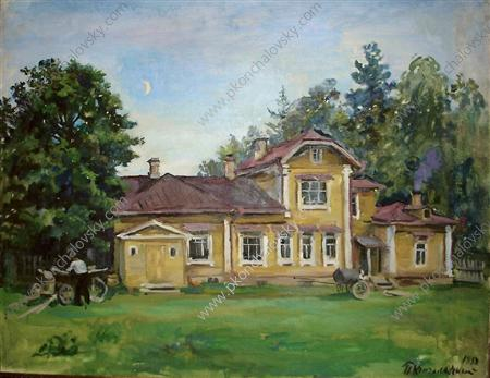 House in Knobs, 1933 by Pyotr Konchalovsky (1876-1956, Russia) | Museum Quality Reproductions | WahooArt.com
