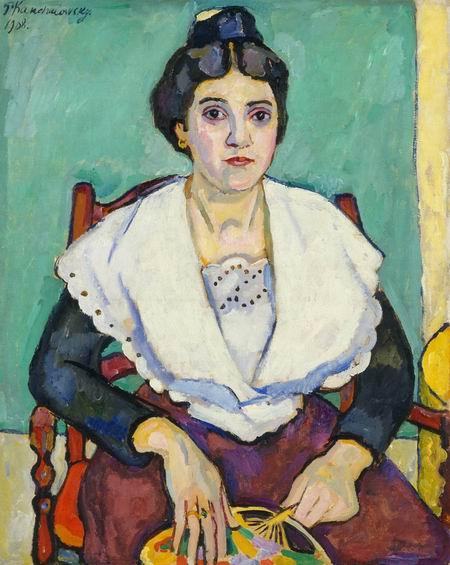 Girl from Arles, 1908 by Pyotr Konchalovsky (1876-1956, Russia)
