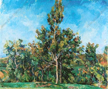 Tree against the sky, 1923 by Pyotr Konchalovsky (1876-1956, Russia) | Painting Copy | WahooArt.com