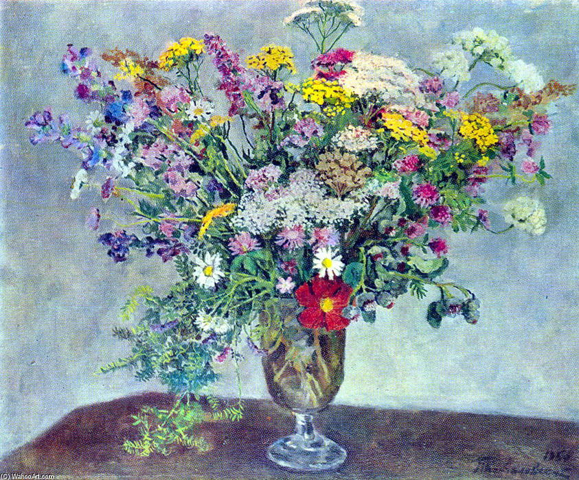 Still Life. Wildflowers., 1950 by Pyotr Konchalovsky (1876-1956, Russia) | Museum Quality Reproductions | WahooArt.com