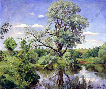 Nemtsovo. Pond., 1950 by Pyotr Konchalovsky (1876-1956, Russia) | Art Reproduction | WahooArt.com