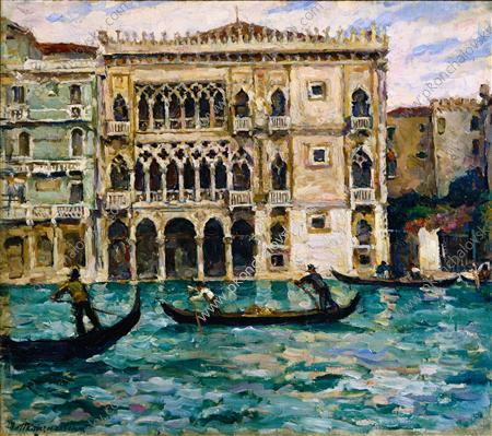 Venice. Palazzo Ducale., 1924 by Pyotr Konchalovsky (1876-1956, Russia) | Museum Quality Reproductions | WahooArt.com