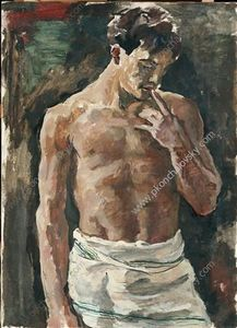 Order Museum Quality Reproductions : Torso of young men, 1936 by Pyotr Konchalovsky (1876-1956, Russia) | WahooArt.com